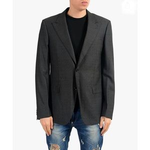 Versace Collection Wool Silk Two Button Sport Coat